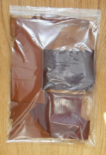 LEATHER COWHIDE 600 GM ASSORTED BROWNS  1.2-2.0 mm OFF-CUTS CRAFT PACK