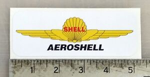 "Vintage Aero Shell sticker decal 5""x1.8"""