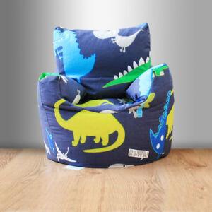 Children's Factices Chaise Dinosaurs Bleu Garçons Enfants Chambre à Coucher Mobilier Bean Bag New-afficher Le Titre D'origine