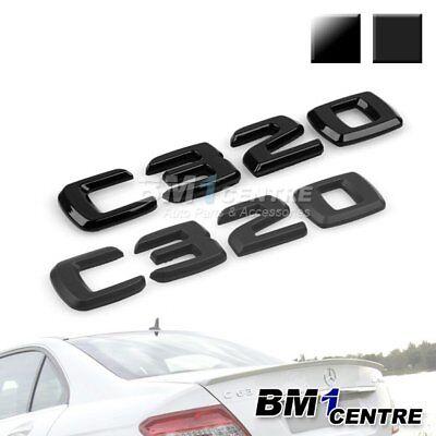 MATTE BLACK BENZ C350 REAR TRUNK LETTER BADGE EMBLEM FOR BENZ W203 W204 C-CLASS