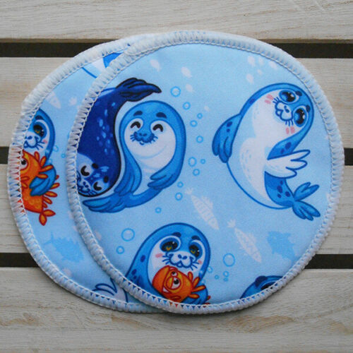 Reusable Washable Breast Pads Set of 3 Pairs Seals style