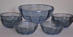 Czech Glass FruitComport Service 1950s Bowl and Six Dishes - St. Leonards-on-Sea, United Kingdom - Czech Glass FruitComport Service 1950s Bowl and Six Dishes - St. Leonards-on-Sea, United Kingdom