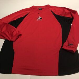 7fb08de35b23 Vintage Team Canada Nike Dri Fit Hockey Pullover Sweatshirt Men s Sz ...