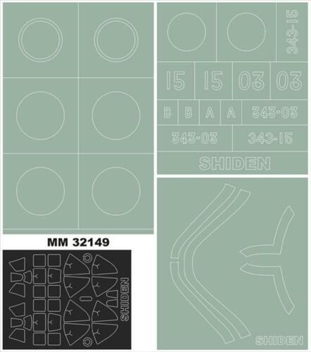 Hasegawa 1:32 MONTEX MM32149 Kawanishi N1K2-J Shiden