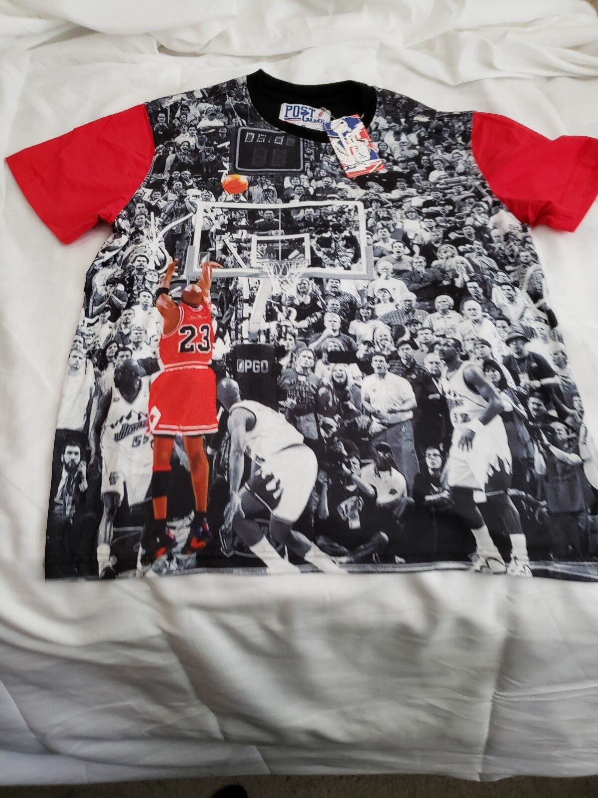 Post Game Micheal Jordan Last Shot Retro 14 Tshirt Graphic Brand New