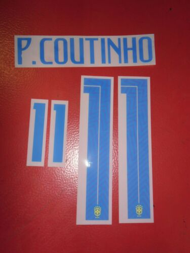 Nameset Flocage Officiel Coutinho Bresil Away 2018 2020 Football Maillots