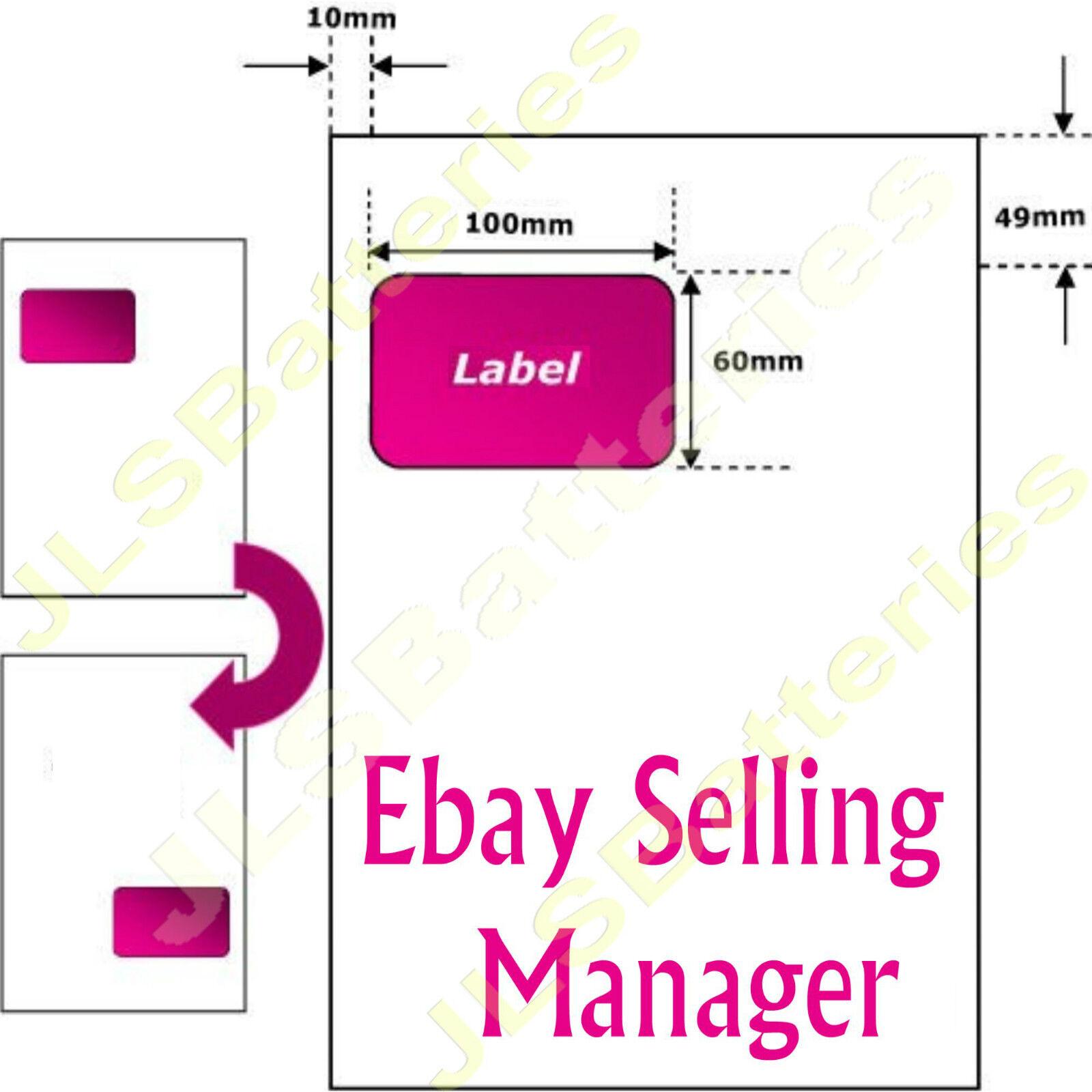 A4 Facture Ebay Adresse 110 étiquettes papier Intergrated SMP emballage 110 Adresse mm x 60 mm 0761fe