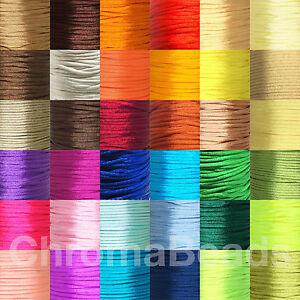 Choose Length kumihimo macrame braiding Cerise Rattail Satin Nylon Cord 2mm