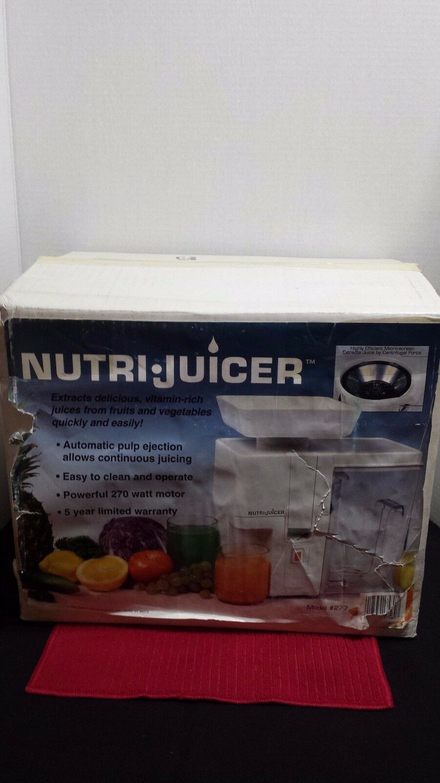 Nutri Juicer 277 Powerful Juice Extractor  New In Box