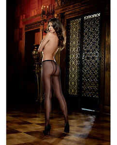 FISHNET PANTYHOSE WITH BACK SEAM NUDE OS-QN