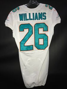 detailed look c6d50 9c85e Details about #26 DAMIEN WILLIAMS MIAMI DOLPHINS GAME USED WHITE AUTHENTIC  NIKE JERSEY WOW