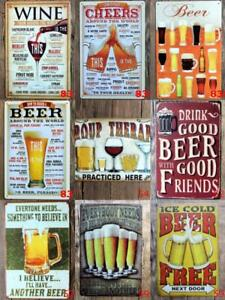 Metal-Tin-Funny-Signs-Pub-Bar-Home-Wall-Home-Decor-Cafe-Alcohol-Beer-Drink-Tail