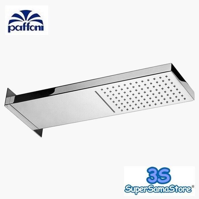 3S SOFFIONE DOCCIA PAFFONI DOPPIO GETTO CASCADE RETTANGOLARE 53x16 cm ZSOF099CR