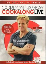 Gordon Ramsay: Cookalong Live (DVD, 2012, 4-Disc Set) BRAnd new