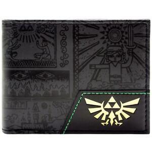 Legend-of-Zelda-Hylian-Held-der-Zeit-Schwarz-Portemonnaie-Geldborse