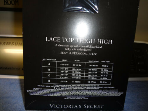 VICTORIAS SECRET  LACE Top THIGH HIGH STOCKINGS NUDE Size C   SO SEXY!!