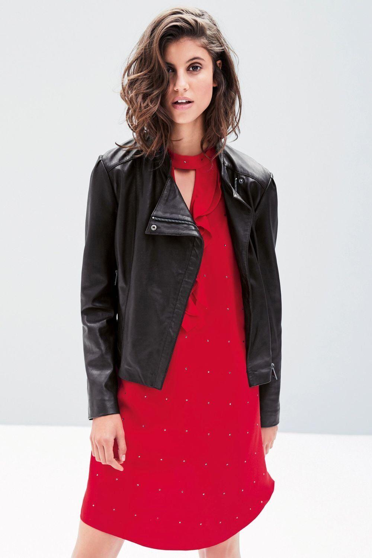 Next Red Heatseal Ruffle Dress 14