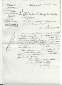 1813 Ministry of war general signed letter sale of 4000 Army Rifle to USA RARE