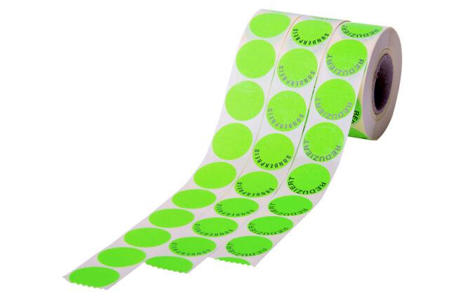 Aktionsaufkleber Haftetiketten Etiketten 32mm Grün Sonderpreis Reduziert Blanko