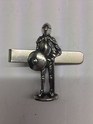 slide Astronaut SPASKR English Pewter Emblem on a Tie Clip