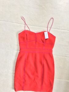 2bebcd17d09 Image is loading Banana-Republic-Red-Wool-Dress-Brand-New-With-