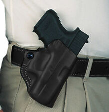 DeSantis Mini Scabbard Belt Holster Glock 26 27 33; Taurus PT111, PT140 Leath...