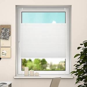 DESWIN KLEMMFIX PLISSEE Fenster Tür/Türen Falt-Rollo ohne bohren 100% blickdicht
