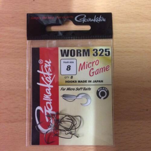 Perch Gamakatsu Worm 325 Micro Game Weedless Hooks Big eye Ultralight Lrf