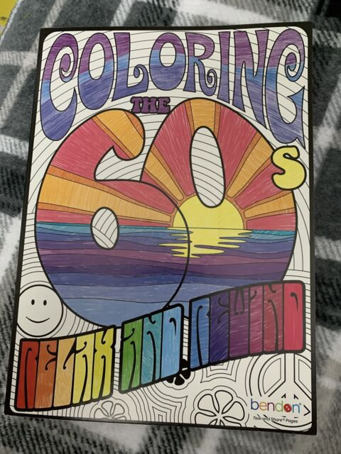 Bendon 75215 The 60's Advanced Coloring Book For Sale Online EBay