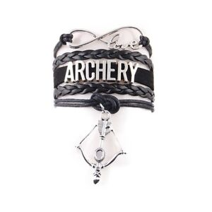Bow-and-Arrow-Archery-Charm-Bracelet-Leather-Rope-Wristband-Gift-for-Her-Him