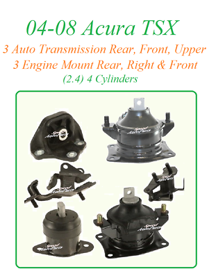 4 PCS FRONT MOTOR MOUNT FOR 2004-2008 ACURA TSX 2.4L