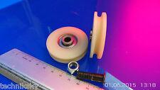 1 Nylon  Seilrolle 5,5mm Seile 50  x 12 mm  Kugellager Linearführung Bagger Kran