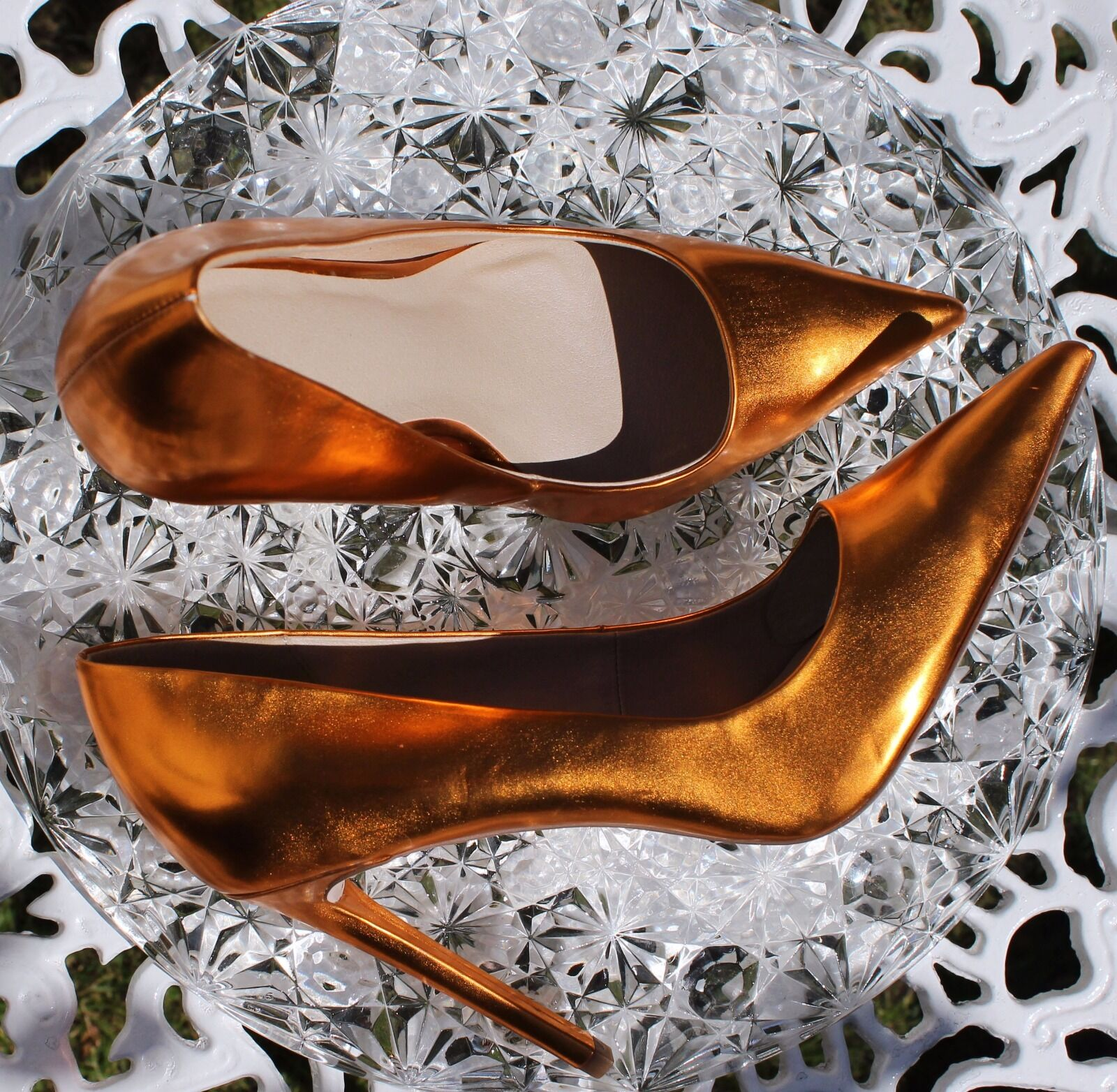 NEW HTF RARE ASOS Copper Copper Copper Stilettos High Heels Pointed Toe UK 5.5 EU 39 131f71
