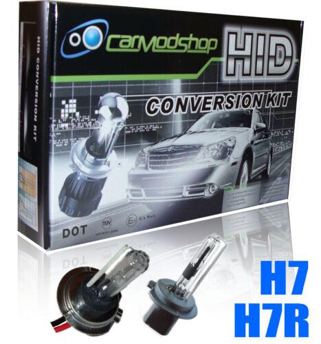Fits Audi All 35W H7 H7R Xenon HID Conversion Kit Slim Balast Headlight Bulbs
