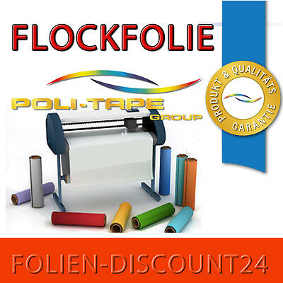 22,00 €//m² FLOCKFOLIE 1 METER  x 500 mm PREMIUM  ORANGE 515 Poli-Tape TiP!