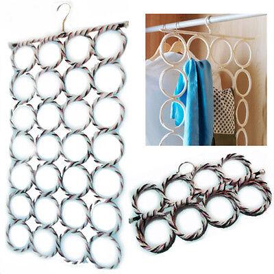 Multi Scarf Hanger Scarves Display Hang Ties Belt Organize Circle Storage Holder