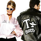 1950s Grease Jacket Adult Fancy Dress 50s Rock N Roll Mens Ladies Costume Outfit