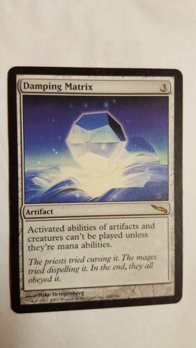 1x DAMPING MATRIX Magic the Gathering NM MTG Mirrodin Rare