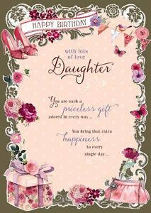 Image Is Loading Daughter Shoes Flowers Presents Bag Design Happy Birthday