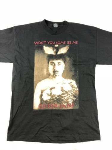 Vtg 90s Bob Dylan Queen Jane Concert T Shirt Size