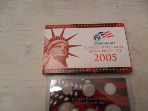 2005 *SILVER* Proof Set Box and Lenses ONLY