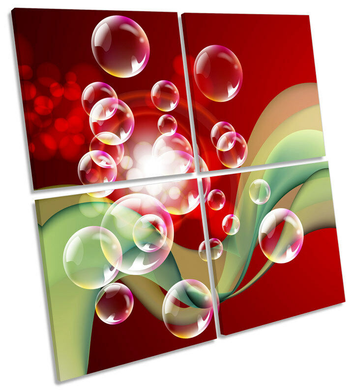 Abstract Bubbles MULTI CANVAS WALL ART Square Print