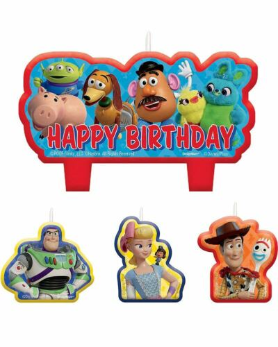 Disney Toy Story 4 Birthday Candles Pack Of 4 One Size