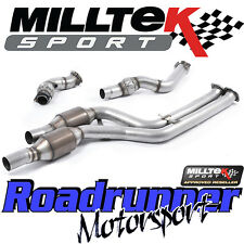 "Milltek BMW M3 F80 Saloon 3"" Downpipes Largebore & Hi Flow Sports Cats SSXBM1030"
