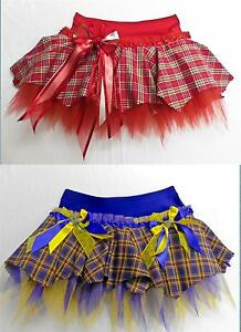 372dfdc31f Image is loading PLUS-SIZE-SCOTTISH-TARTAN-TUTU-SKIRT-DANCE-COSTUME-