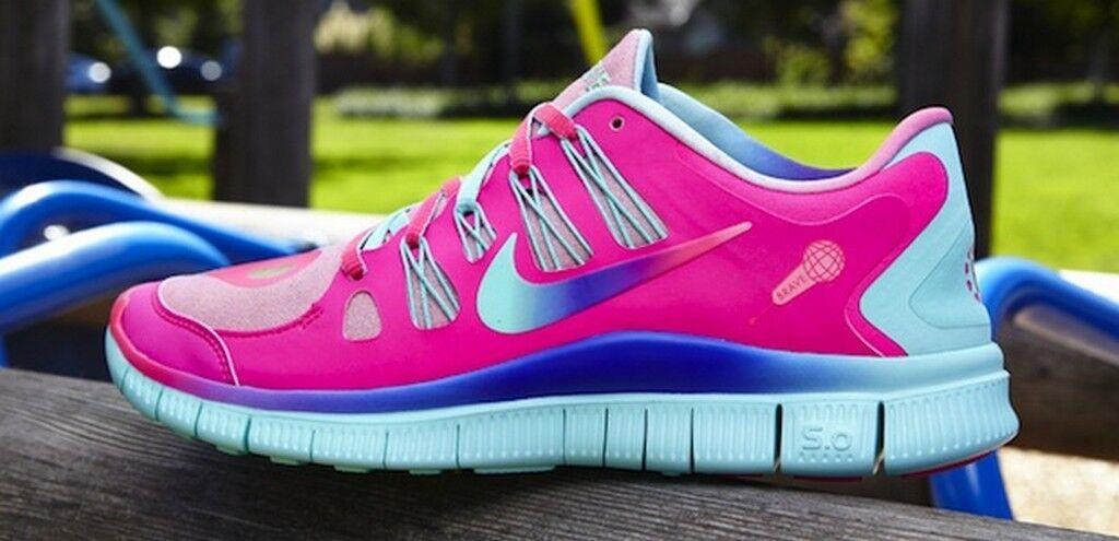 WMNS Nike Free 5.0 DB Hyper Pink   Hyper Turq-Metallic gold 640936-648 bella 7