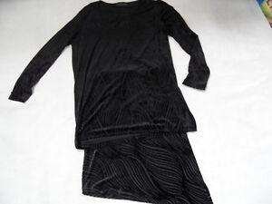 N3/n4 Top 1018 Anzüge & Anzugteile Damenmode Marc Cain Schöne Kombination Schwarz Samt Ausbrenneroptik Gr