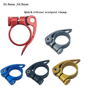 Bicycle-31-8mm-34-9-27-2-clamp-Bike-Seat-Post-Seatpost-MTB-Collar-Quick-Release