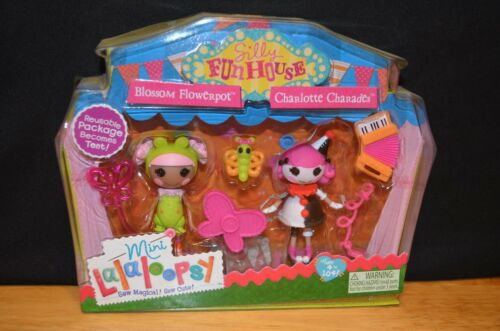 MINI LALALOOPSY Silly Fun House Series BLOSSOM FLOWERPOT /& CHARLOTTE CHARADES