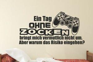 Wandaufkleber Wandtattoo Aufkleber Zocken Game Kontroller Gamer Ps Konsole 161 Ebay
